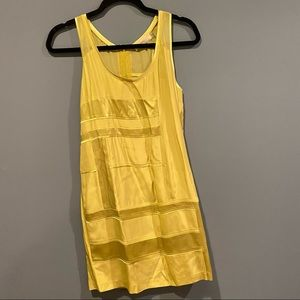 Cluny Light Green Silk Slip Dress